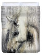 Gentle White Horse Duvet Cover