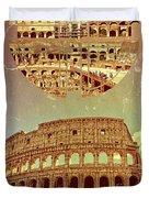 Geometric Colosseum Rome Italy Historical Monument Duvet Cover
