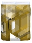 Geometric Gold Composition Duvet Cover