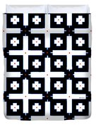 Geometric In Black And White Duvet Cover