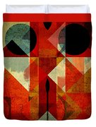 Geomix-04 - 39c3at22g Duvet Cover by Variance Collections