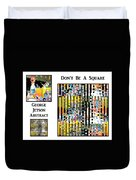 George Jetson Abstract - Don't Be A Square Duvet Cover