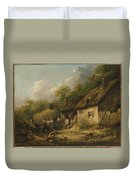 George Morland  The Bell Inn Duvet Cover