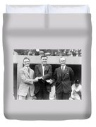 George Sisler - Babe Ruth And Ty Cobb - Baseball Legends Duvet Cover by International  Images