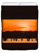 George T. Bagby State Park Sunset Duvet Cover