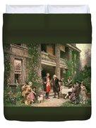 George Washington At Bartrams Garden Duvet Cover