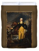 George Washington Before The Battle Duvet Cover