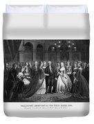 George Washington's Reception At White House - 1776  Duvet Cover