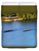 Georgetown Crew On The Potomac? Duvet Cover