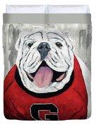 Georgia Bulldog Duvet Cover