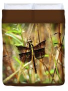 Georgia On My Mind Ray Charles Dragonfly Art Duvet Cover