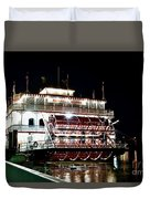 Georgia Queen Riverboat On The Savannah Riverfront Duvet Cover