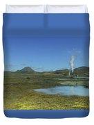 Geothermal Power Station Iceland  Duvet Cover