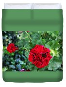 Geranium Flower - Red Duvet Cover