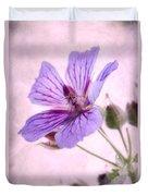 Geranium Maculatum Duvet Cover