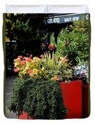Geraniums And Gelato Duvet Cover