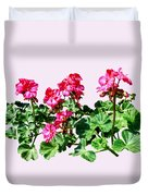 Geraniums In A Row Duvet Cover