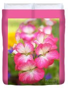 Geraniums On A Brilliant Summer Day Duvet Cover