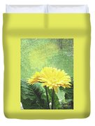 Gerber Daisy And Reflection Duvet Cover