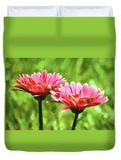 Gerbera Daisies To Brighten Your Day Duvet Cover