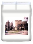 German Gate In Metz 1955 Duvet Cover