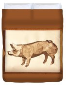 German Pietrain Boar 31 Duvet Cover