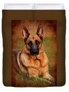 German Shepherd Dog Portrait  Duvet Cover by Angie Tirado