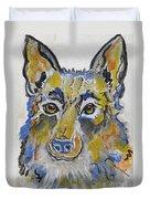 German Shepherd Painting Duvet Cover