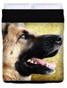 German Shepherd Portrait Duvet Cover