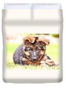 German Shepherd Puppy Duvet Cover