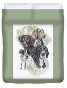 German Shorted-haired Pointer Revamp Duvet Cover