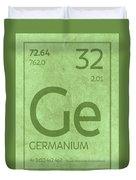 Germanium Element Symbol Periodic Table Series 032 Duvet Cover