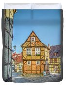 Germany - Half-timbered Houses And Alleys In Quedlinburg Duvet Cover