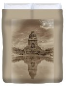 Germany - Monument To The Battle Of The Nations In Leipzig, Saxony, In Sepia Duvet Cover