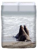 Get Off My Beach Duvet Cover