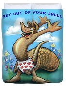 Get Out Of Your Shell...stop And Smell The Bluebonnets Duvet Cover
