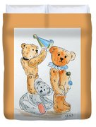 Get Ready Teddy Duvet Cover