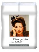 Get There And Back - Ww2 Duvet Cover