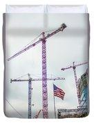 Getter Done Tower Crane Construction Art Duvet Cover