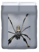 Getting To Know A Golden Orb Weaver Duvet Cover