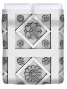 Getty Villa Coffered Peristyle Ceiling Duvet Cover