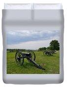Gettysburg Battlefield Cannons Duvet Cover