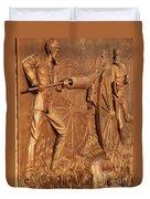 Gettysburg Bronze Relief Duvet Cover