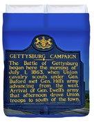 Gettysburg Campaign Duvet Cover
