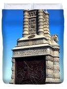 Gettysburg National Park 6th New York Cavalry Memorial Duvet Cover