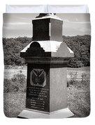 Gettysburg National Park 6th Wisconsin Iron Brigade Monument Duvet Cover