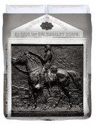 Gettysburg National Park 9th New York Cavalry Monument Duvet Cover