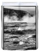 Geysers Of Yellowstone Duvet Cover