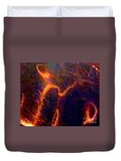 Ghost Figures 3 Abstract Duvet Cover