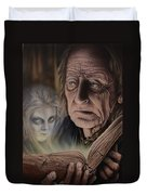 Ghost In The Book Duvet Cover